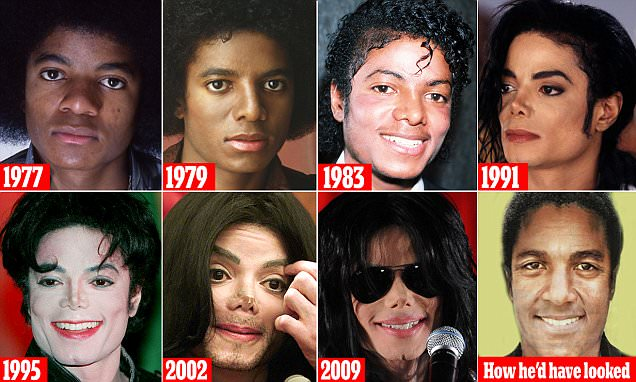 Michael Jackson before - after